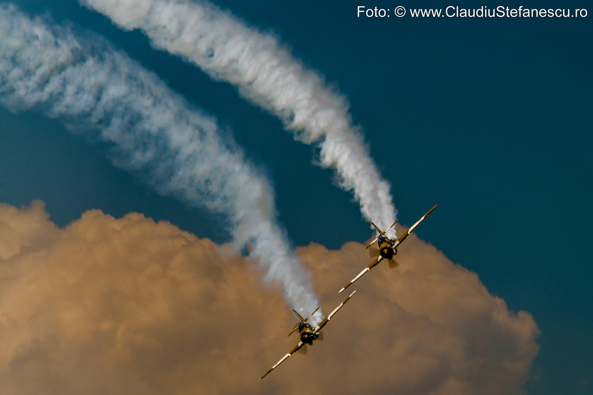 Acrobație aeriană nori
